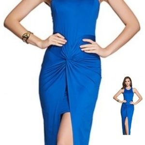 Dresses & Skirts - Blue structured tight thigh split dress
